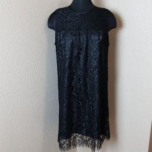 Melissa Odabash Black Lace Lined Mini Dress